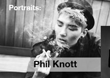 phil knott Le smoking/   portraits of musicians and actors